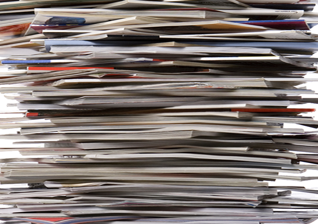 stack of journals