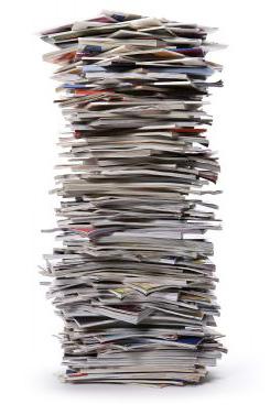 Stack of scientific journals